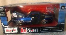 31361 BLUE SILVER & BLACK 2011 Ford Mustang GT Car NIB MAISTO ALL STARS VHTF!