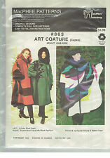 McPHEE pattern #863 CAPE Art Coature one size applique
