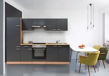 Küche Küchenzeile Küchenblock Einbauküche Leerblock respekta  270 cm Buche Grau