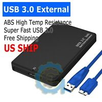 "2.5"" SATA USB 3.0 BLK Hard Drive Disk HDD SSD Enclosure External Laptop Cases"
