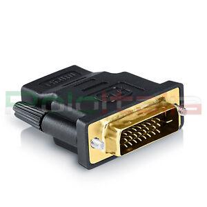 Adattatore da DVI-D dual link 24+1pin maschio a HDMI femmina | convertitore cavo