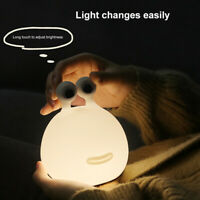 Lovely LED Dimmable Night Light Rechargeable Timer Bedside Sleeping Desk Lamp