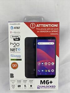 """New BLU M6+ HD GSM Factory Unlocked 6"""" HD+ Dual 8MP Camera Android Smartphone"""