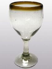 Mexican Glassware - Amber Rim wine glasses (set of 6)