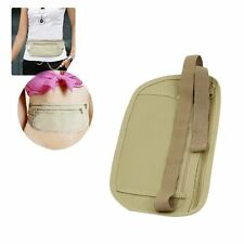 2 pcs Travel Pouch Hidden Compact Security Money Passport ID Waist Belt Bag BP