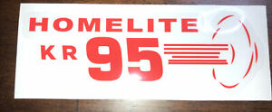 Homelite Go-Kart Decal OLD SCHOOL 1960 KR 95 Decal Reproduced From Original