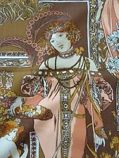 "Mucha Inspired Fabric - by Riverdale -10 Yards - 48"" Wide - Circa 1975 - New"