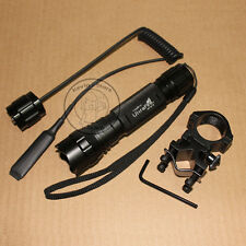UltraFire Tactical WF-501B CREE R5 LED 1Mode Flashlight Torch + Mount Switch Set