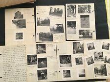 10 feuillets manuscrit 60 photo ancien Scout Scoutisme camp Religion 1956 tarn