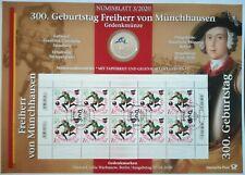 Freiherr von Münchhausen Numisblatt 3/2020 z. 300. Geb. 20 Euro Farbmünze Marken