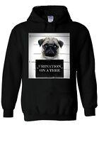 Criminal Guilty Pug Dog Urination Hoodie Sweatshirt Jumper Men Women Unisex 1982