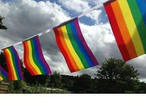 LGBT Gay Pride Rainbow Fabric Bunting - wholesale - free 1st class post