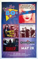 MISSING PERSONS / BOW WOW WOW 2016 SAN DIEGO CONCERT TOUR POSTER- New Wave Music