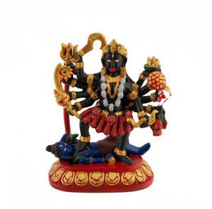 Statue de Kali ou Mahakali Dieu Hindou en Resine Peint à la main 3732 Z5
