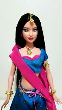 2006 Diwali Barbie w/ Stand Festivals of the World Very Good Condition