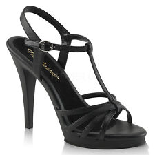 Black Salsa Ballroom Dancing Strappy Sandals Stiletto Heels Shoes size 5 6 7 8 9