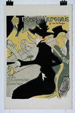 Toulouse Lautrec Lithographie ancienne Divan Japonais
