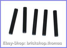 5 x Lego Technic Kreuzstangen schwarz - 3705 - Axle 4 Black - NEU / NEW