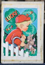 """B. GARTRELL 1952 Original Cover Art - """"Lucky Paint Book"""" (A53)"""