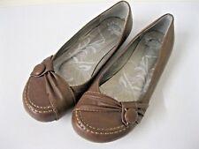 Taille 5 Marron Plat Chaussures Flats Boutons Ballerine Fraise