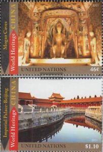 UNO - New York 1336-1337 (kompl.Ausg.) postfrisch 2013 UNESCO Welterbe China