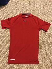 Mens Medium Under Armour Athletic Compression Top Red Color Heat Gear
