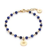 Leonardo Schmuck Armband Rosella 017934 Armkette Farbe Gold Blau 18 cm - 19,5 cm
