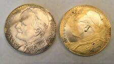 JOHANNES PAULUS I & II pont.max. Lot of 2 Vintage coin münze munten monnaie