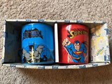 DC Superman Batman Set Of 2 - 14 Oz. Ceramic Cup/Mug Set New