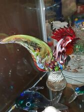 LARGE VINTAGE MURANO GLASS COCKEREL / ROOSTER- stunning