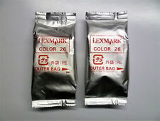 2 x Lexmark 26 color x74 x75 x1100 x1200 x2200 z13 z23 z25 z33 z35 z500 z600 o.v