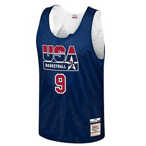Michael Jordan Mitchell & Ness Team USA Dream Team Reversible Practice #9 Jersey