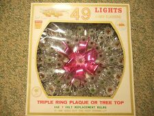 VINTAGE LIBERTY BELL CHRISTMAS 49 LIGHT TRIPLE RING TREE TOP MIB