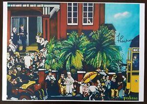 """Ferdie Pacheco """"Factory Workers"""" Ybor City, Signed Print 11"""" x 15"""""""