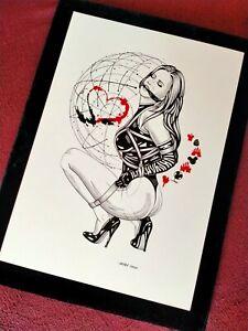 NEW BDSM Shibari & Gag Original Erotic Art. 100% hand-drawing by max.jiehuh!(A4)