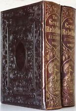 1866 THE GREAT REBELLION A HISTORY OF THE CIVIL WAR IN THE UNITED STATES LINCOLN