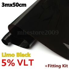 5% VLT 3mx50cm CAR WINDOW TINT GLASS FILM TINTING ROLL FEET SHADE HOME