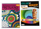 Color by Number Patterns Book Kids Adults Activity Advanced Coloring Books Set