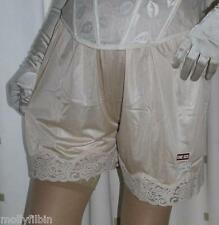 2 pairs of gold silky nylon gusset french knickers panties culotte briefs