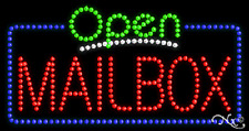 "New ""Open Mailbox"" 32x17 Solid/Animated Led Sign W/Custom Options 25533"
