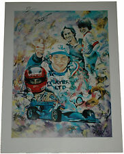 Jacques Villeneuve Signed DYNASTY Gilles & Jacques VILLENEUVE Lithography