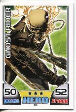 Marvel Hero Attax Series 1 Base Card #65 Ghost Rider