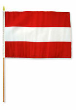 "12x18 12""x18"" Wholesale Lot of 3 Austria Stick Flag wood staff"