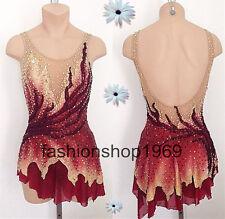 Gorgeous Ice Figure Skating Dress Baton Twirling Dance Dress competitio xx330