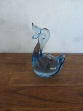 Glas Ente hellblau Dekoration ausgefallen Entchen ca. 9 cm hoch - anschauen