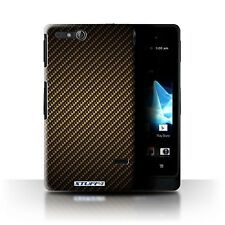 Stuff 4 Case/Case/Back Cover for Sony Xperia go/st27i/Carbon Fibre Pattern