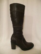 Timberland Brown Leather Tall High Heel Boots 10