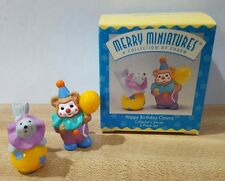 Merry Minatures ~ Happy Birthday Clowns #2 in Series~1996 New in Box