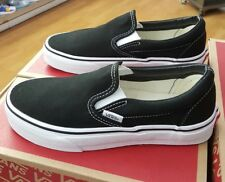 VANS CLASSIC SLIP-ON CANVAS BLACK/WHITE VN000EYEBLK MEN US SZ 4.5 ( WOMEN 6 )