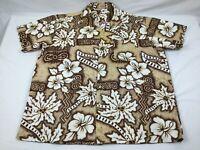Gaap's Fashion Pago Pago Men's 3XL? Aloha Camp Shirt Floral Palm Tree Samoa